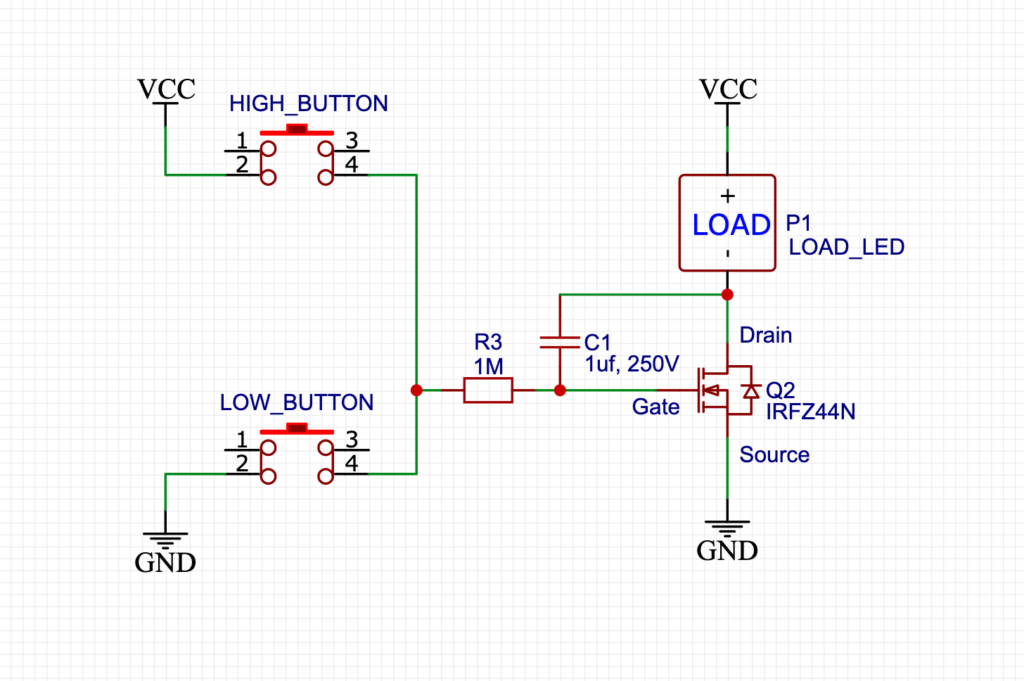 LED Dimmer circuit with MOSFET